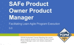 SAFe Product Owner Product Manager POPM